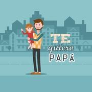 Te quiero Papá camisa de cuadros